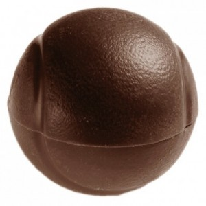 Tennis ball chocolate mould in polycarbonate Ø 60 mm H 30 mm