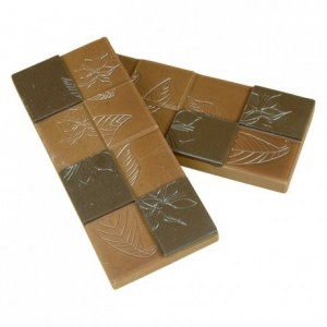"""Chocolate mould polycarbonate 5 """"cocoa flowers"""" bar"""