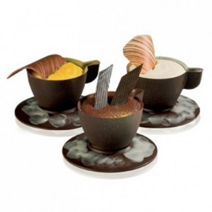 Chocolate mould polycarbonate 7 expresso cups