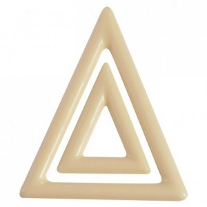 Triangles chocolate mould in polycarbonate (2 x 9 moulds)