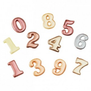 Chocolate mould polycarbonate numbers 0 to 9