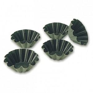 10 wave brioche mould Exopan Ø 75 mm H 28 mm