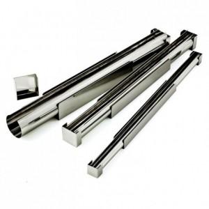 Finger yule-log frame stainless steel Ø 30 mm