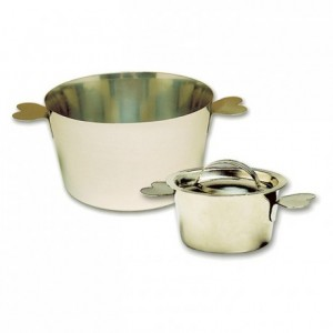 Charlotte mould with lid stainless steel Ø 70 mm H 45 mm