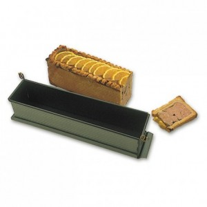 Long paté mould with clip with bottom Exopan 300 x 70 x 85 mm