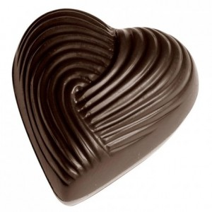 Chocolate mould polycarbonate 21 chocolate heart