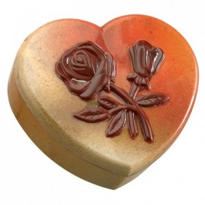Chocolate mould polycarbonate 1 heart box