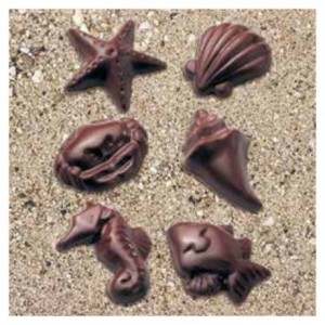 """Chocolate mould """"Seafood"""" 6 shapes"""