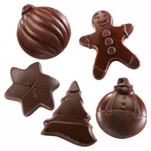 """Mould chocolate """"Christmas spirit"""" 5 shapes"""