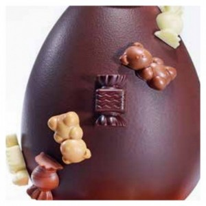 """Mould chocolate """"Gourmandise"""" 4 shapes"""