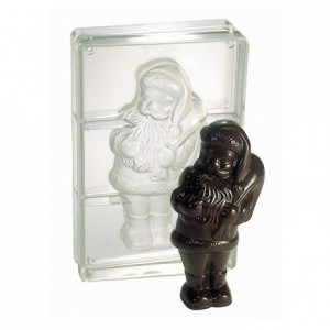 Chocolate mould polycarbonate 1 standing Santa Claus 205 mm