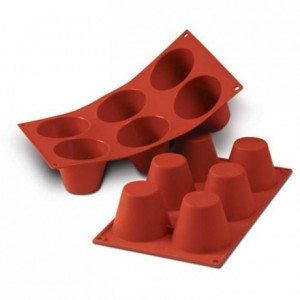 Big muffins silicone mould Ø 75 mm