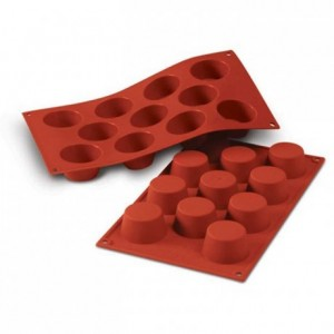 Small muffins silicone mould Ø 51 mm