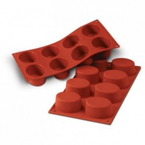 Big ovals silicone mould 75 x 55 mm