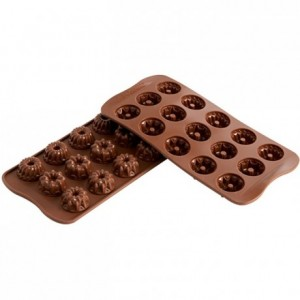 Fantasia chocolate silicone mould Ø 28.5 x 15 mm