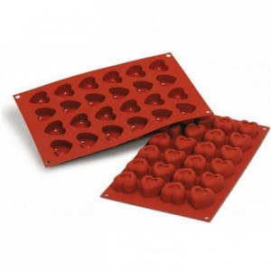 Heart savarins silicone mould 37 x 36 mm