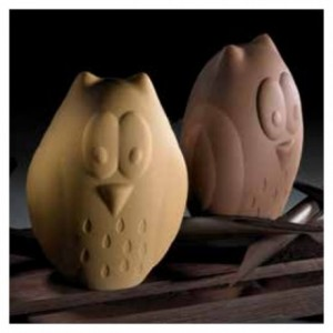 "Chocolate mould owl ""Hibou"" 15 cm"