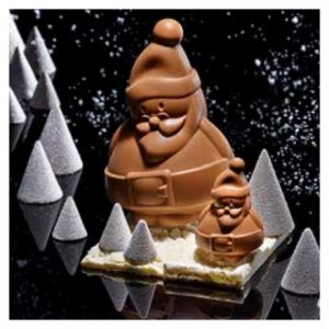 """Mould chocolate """"Santa Claus"""" 7 cm"""