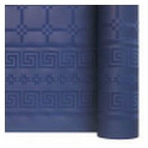 Damask coloured table cloth marine 1.2 x 25 m