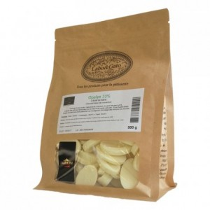 Opalys 33% white chocolate Gourmet Creation beans 500 g