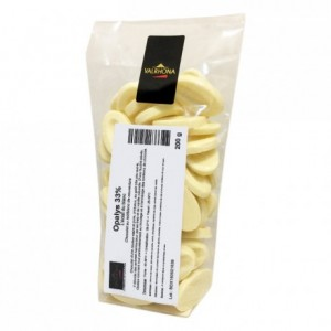 Opalys 33% white chocolate Gourmet Creation beans 200 g