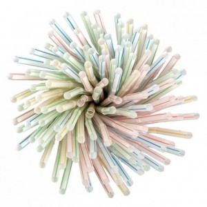 Articulated straws wrapped (500 pcs)