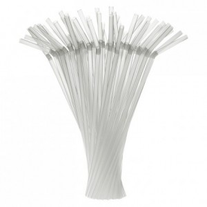 Articulated straws clear Ø 5 mm (250 pcs)