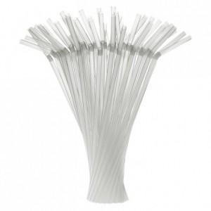 Articulated straws clear Ø 7 mm (250 pcs)