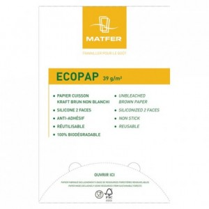 Baking paper Ecopap 600 x 400 mm (500 leaves)