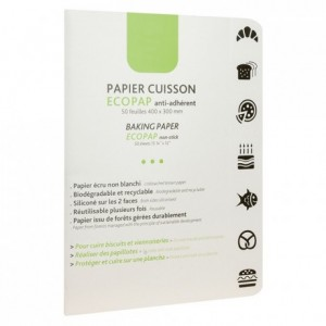 Baking paper Ecopap 400 x 300 mm (50 leaves)