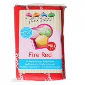 FunCakes Fondant Fire Red 250g