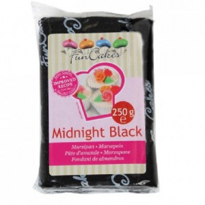 FunCakes Marzipan Midnight Black 250g