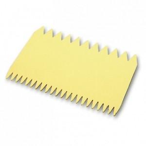 Decorating comb plastic 2 sided 110 x 75 mm