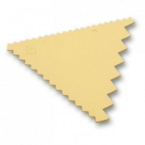 Decorating comb plastic 3 sided 93 x 83 mm