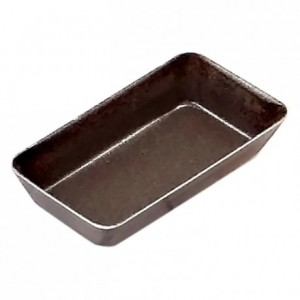 Petits-fours mould plain rectangle non-stick L50 mm (pack of 12)