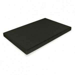 Chopping board PEHD 500 black 530 x 325 x 20 mm