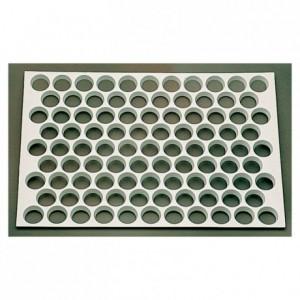Plain tartlets 95 cutter sheets ABS Ø 38 mm