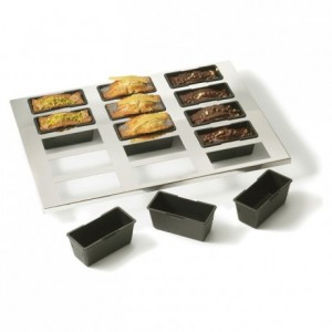 15 cakes baking sheet Exoglass 400 x 300 mm