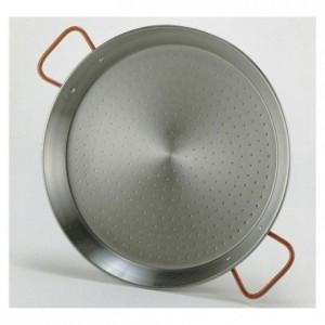 Paella pan polished steel Ø 320 mm