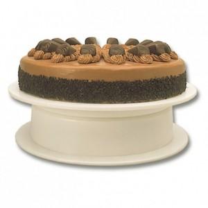 Revolving cake stand plastic Ø 315 mm