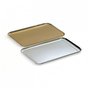 One side carterer cardboard tray mettallic effect gold 280 x 190 mm (25 pcs)