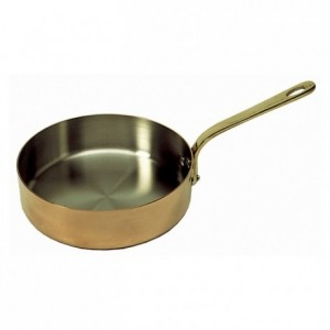 Oval frying pan Elegance copper/stainless steel L 300 mm