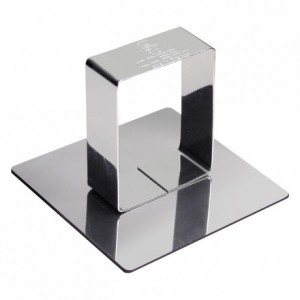 Square pusher stainless steel H47 68x68 mm (pack of 6)
