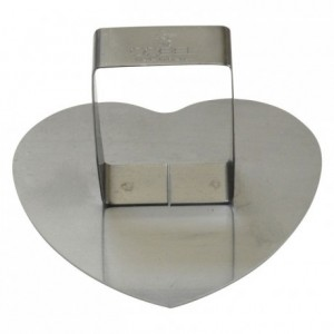 Convex heart pusher stainless steel 83x75 mm (pack of 6)