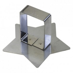 Star pusher stainless steel 80x78 mm (pack of 6)