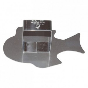Tropical fish pusher stainless steel mm (pack of 6)