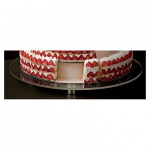 Round display for French style Wedding Cake