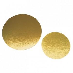 Gold round base Ø 300 mm