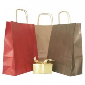 Paper shopping bag chocolate 165 x 230 mm (50 pcs)