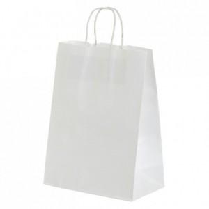 Paper shopping bag white 320 x 420 mm (50 pcs)